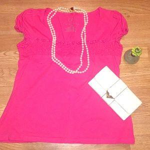 Pink top size petite medium